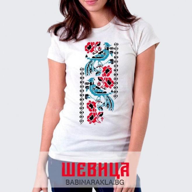 Дамска тениска с шевица 008