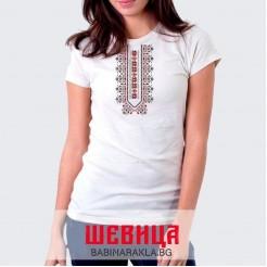 Дамска тениска с шевица 009
