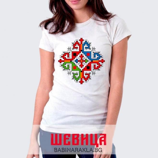 Дамска тениска с шевица 012