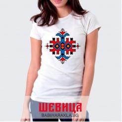 Дамска тениска с шевица 014