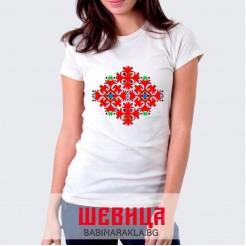 Дамска тениска с шевица 030
