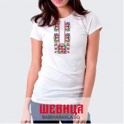 Дамска тениска с шевица 005