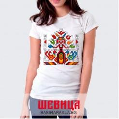 Дамска тениска с шевица 026