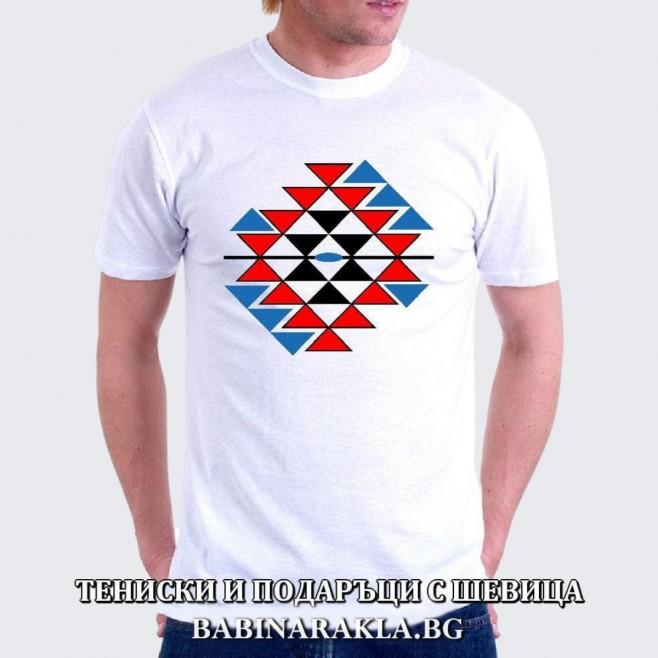 Мъжка тениска с шевица - Канатица, 025