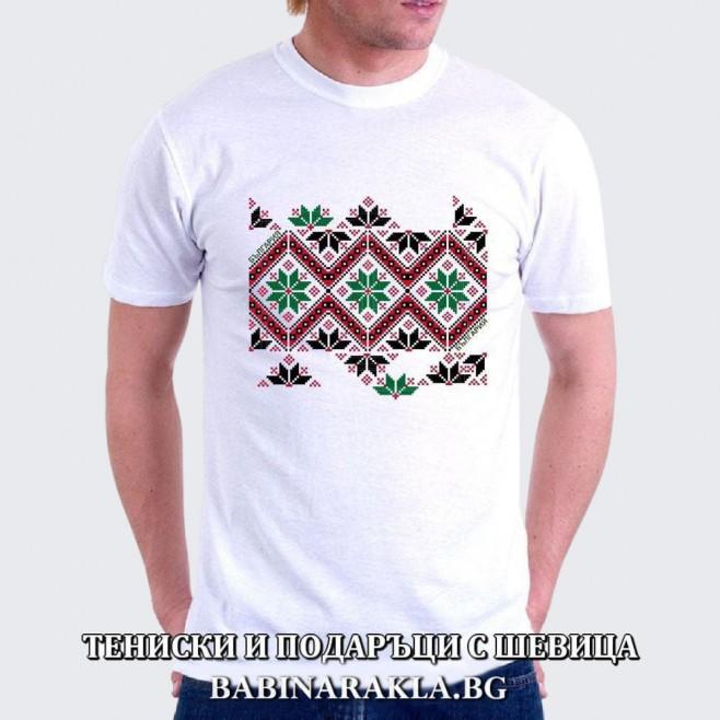 Мъжка тениска с шевица 001