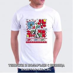 Мъжка тениска с шевица 003