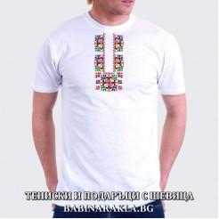 Мъжка тениска с шевица 005