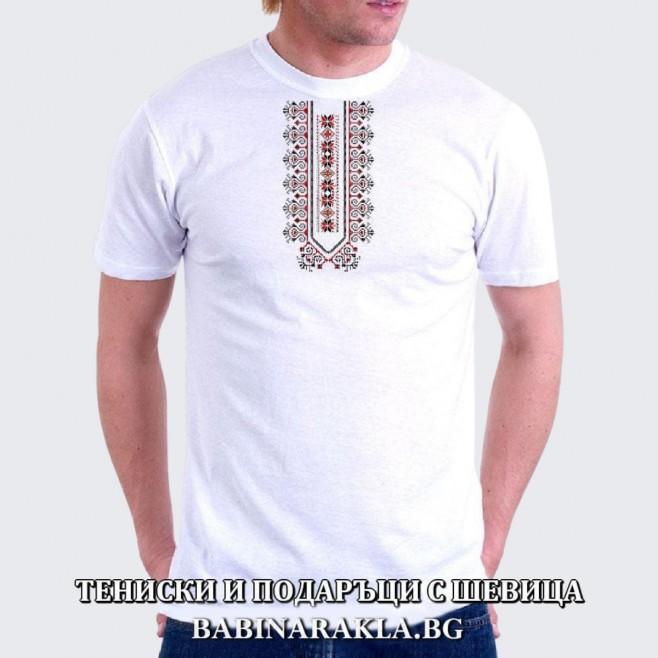 Мъжка тениска с шевица 009