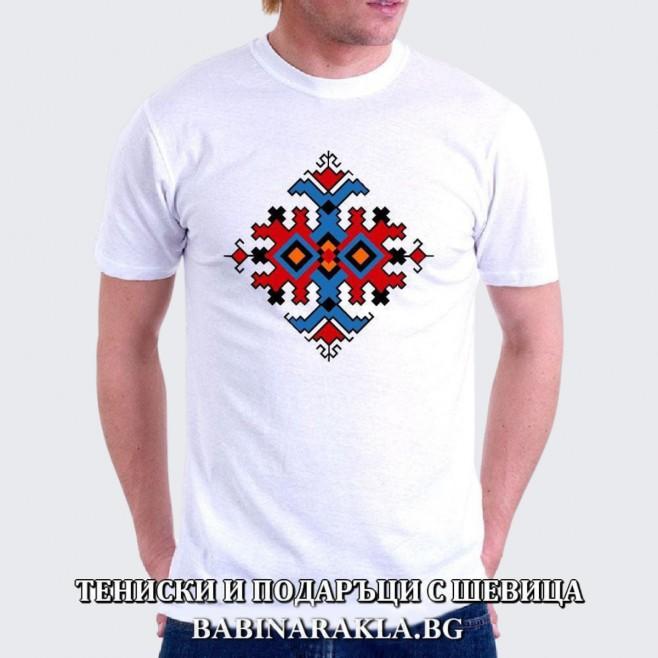 Мъжка тениска с шевица 014