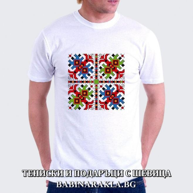 Мъжка тениска с шевица 015