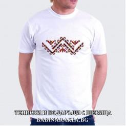 Мъжка тениска с шевица 016