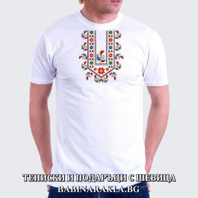Мъжка тениска с шевица 022