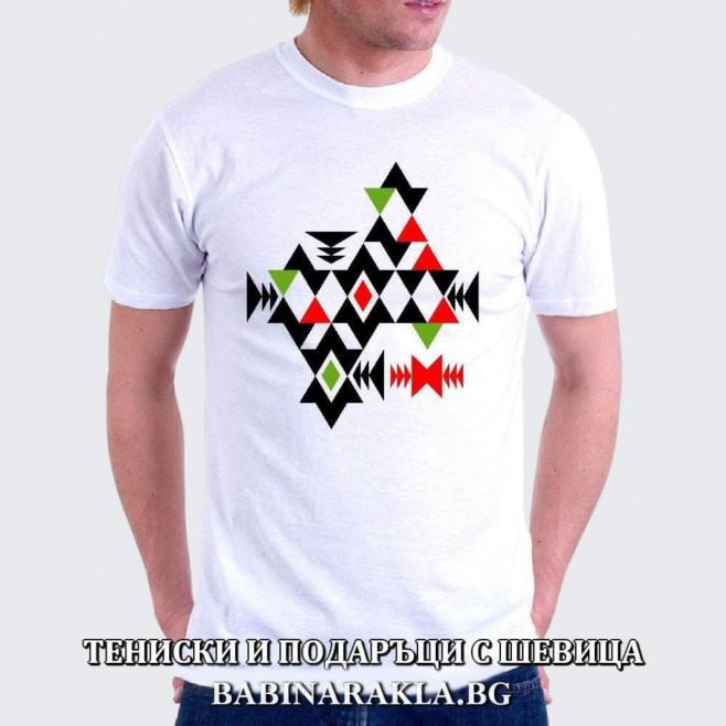 Мъжка тениска с шевица 028