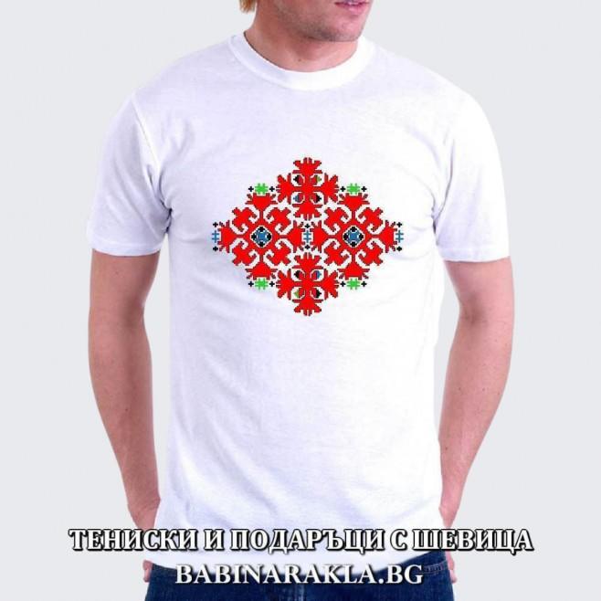 Мъжка тениска с шевица 030