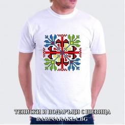 Мъжка тениска с шевица 006