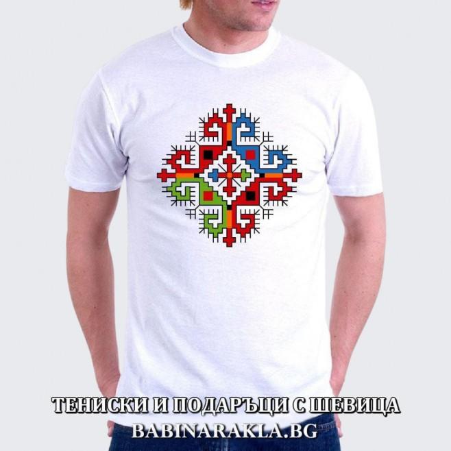 Мъжка тениска с шевица 012