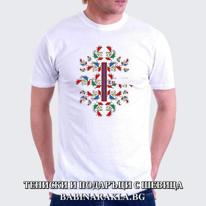 Мъжка тениска с шевица 023