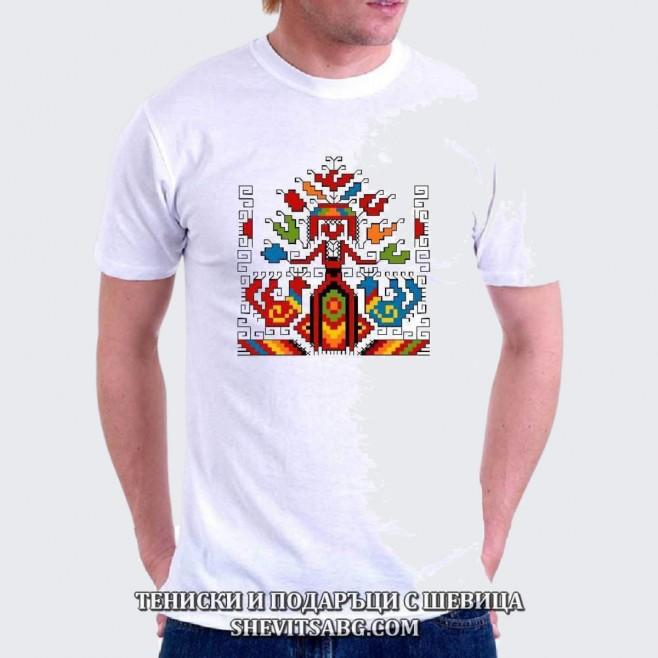 Мъжка тениска с шевица 026