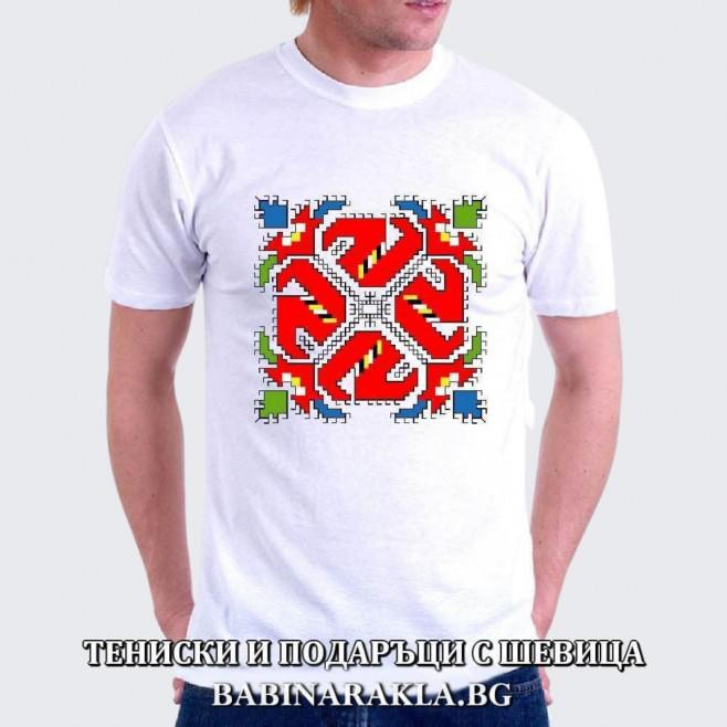 Мъжка тениска с шевица 029
