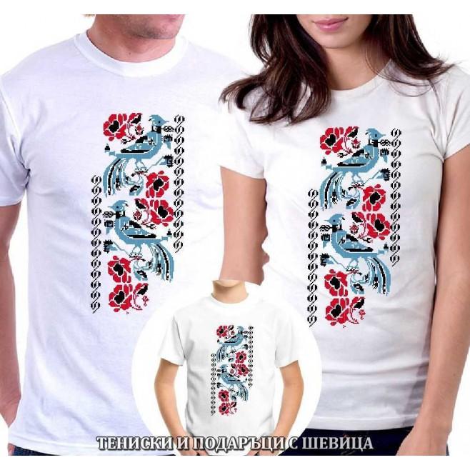 Семеен комплект тениски с шевици 008