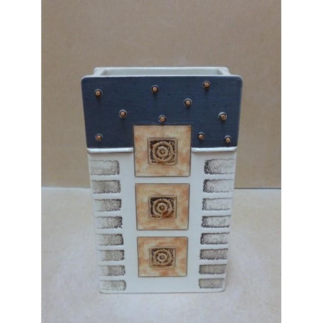 Керамика • Керамична ваза с декорация • модел 21