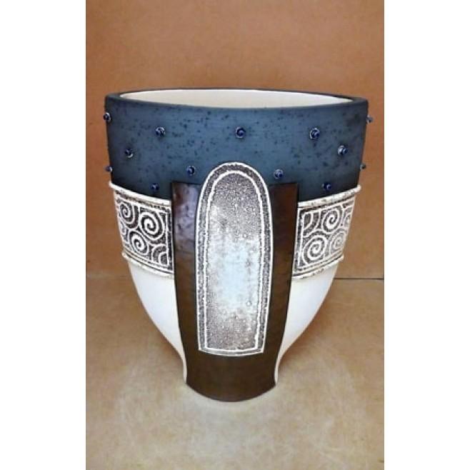 Керамика • Керамична ваза с декорация • модел 52